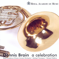Image of CD cover of Dennis Brain a celebration